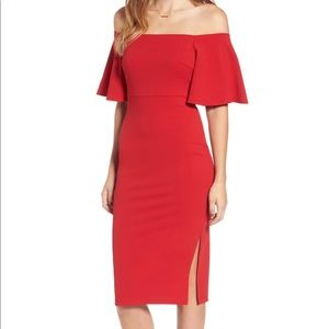 Soprano Ponte Off the Shoulder Dress